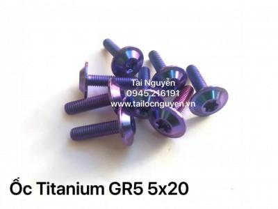 Ốc Titanium GR5 5x20