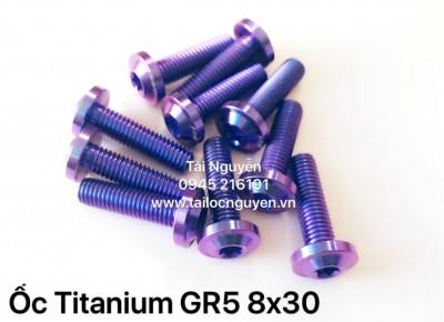 ỐC TITANIUM GR5 8x30