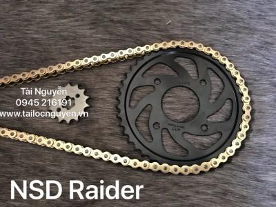 NSD RAIDER/RAIDER FI/SONIC FI (SÊN DID 10LI VÀNG, DĨA ĐEN RECTO)