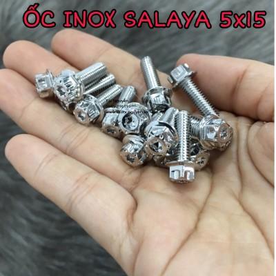 ỐC INOX SALAYA CÁC SIZE 6x20, 6x10, 4x15, 5x15, 5x20, 8x40