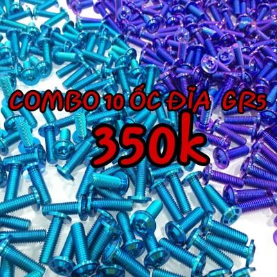 [SALE] COMBO ỐC TITANIUM GR5 GẮN ĐĨA 10C CHỈ 250K