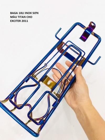 BAGA 10LI INOX SƠN MÀU TITAN CHO EX2011 VÀ EXCITER 150