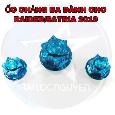 BỘ ỐC TITAN GR5 CHẢNG BA CHO RAIDER FI 2019