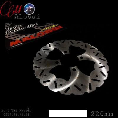 ĐĨA THẮNG TRƯỚC MALOSSI CHO AB/NOVO/EXCITER 135/SIRIUS..CÁC XE 4 LỖ SIZE 220mm