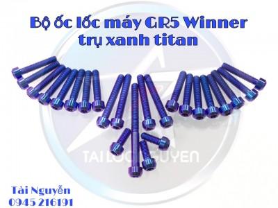ỐC LỐC MÁY TITANIUM GR5 ĐẦU TRỤ CỰC CHẤT CHO WINNER/EXCITER 150/ RAIDER FI/EXCITER 135/VARIO