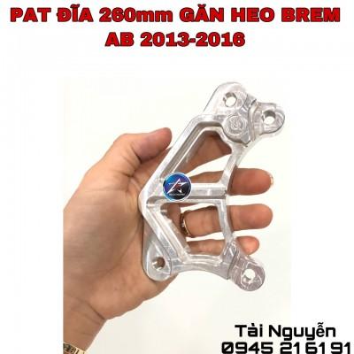 PAT GẮN HEO NISSIN/BREM ĐI ĐĨA 260mm CHO AB2013- 2016 (Loại dày và mỏng)