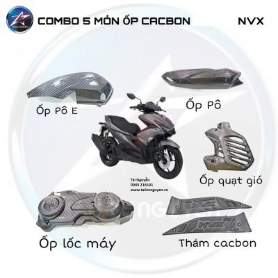 COMBO 5 MÓN ỐP CACBON CHO YAMAHA NVX