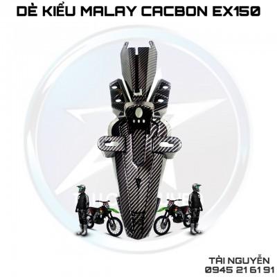 DÈ KIỂU MALAY NHỌN SƠN CARBON CHO EXCITER 150