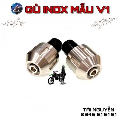GÙ INOX V1 GẮN GÙ TAY LÁI