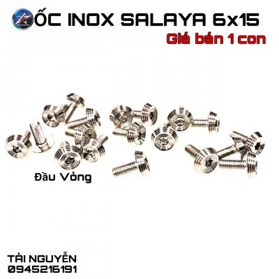 ỐC INOX SALAYA ĐẦU VÒNG SIZE 6x10, 6x15, 6x20, 8x20