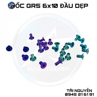 ỐC TITANIUM GR5 6x10 ĐẦU DẸP