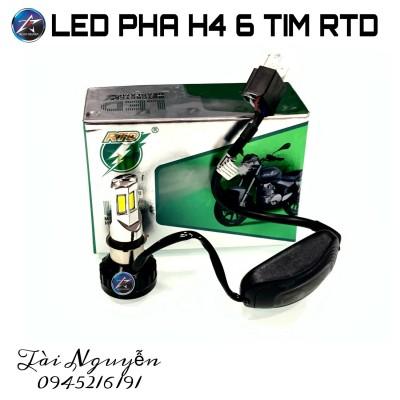 LED 6 TIM CHÂN H4 RTD M02E (ÁNH SÁNG TRẮNG)