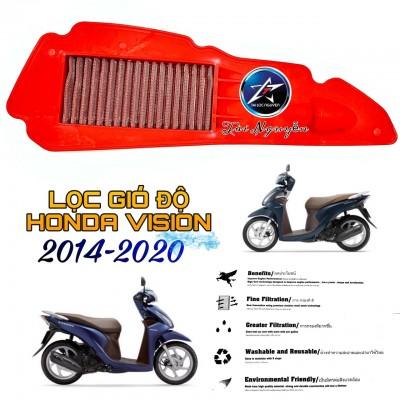 LỌC GIÓ ĐỘ LƯỚI THÉP CHO HONDA VISION 2014-2020