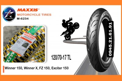 VỎ MAXXIS 120/70-17 M6234Y 58P TL