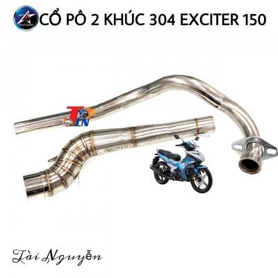 CỔ PÔ INOX 2 KHÚC CHO EXCITER 150